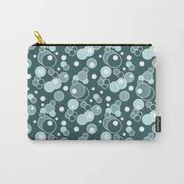 Colorful blue polka dots . Carry-All Pouch