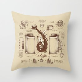 Le Coffee (Fluid of Creativity) Throw Pillow