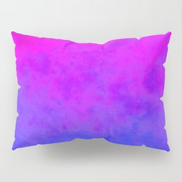 Gradient blue pink cloudy background Pillow Sham