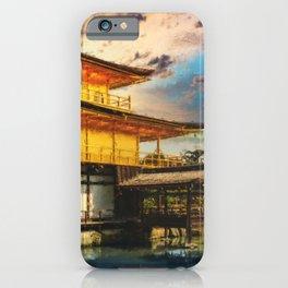 Kinkaku-ji Temple Kyoto - Japan - Digital Oil Painting iPhone Case