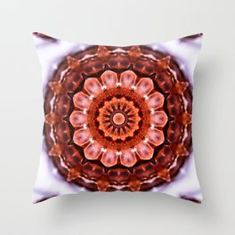 Aragonite Mandala Throw Pillow