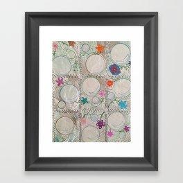 Crinkly Bubble Garden Framed Art Print