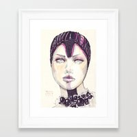 fashion illustration Framed Art Prints featuring Fashion illustration  by Ioana Avram
