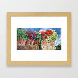 Bloomin' Wall Framed Art Print