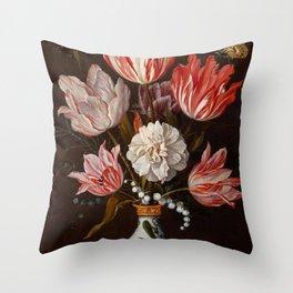 """Balthasar van derAst """"Flowers"""" Throw Pillow"""
