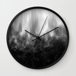 B&W Spotted Blur Wall Clock