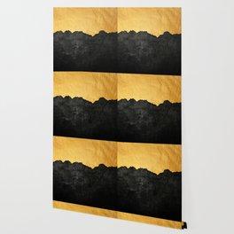 Black Grunge & Gold texture Wallpaper