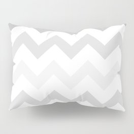 Gradient Grey Chevron on White Pillow Sham