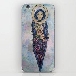 Pearlescent floral spiral goddess iPhone Skin