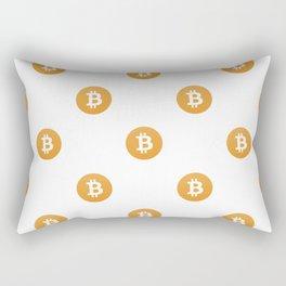 Bitcoin Logo Pattern Rectangular Pillow