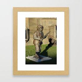 Alaska Territorial Guard Statue  Framed Art Print