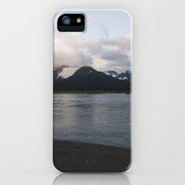 Sunset outside Girdwood iPhone Case