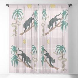 black panther Sheer Curtain