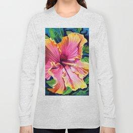 Tropical Bliss Hibiscus Long Sleeve T-shirt