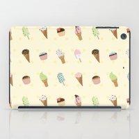 dessert iPad Cases featuring Dessert Yellow by Olya Yang