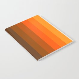 Retro Golden Rainbow - Straight Notebook