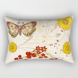 Autumn Moth Musings 3D Jeweled Rectangular Pillow