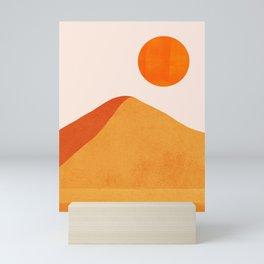 Abstraction_Mountains_SUN_Minimalism_01 Mini Art Print