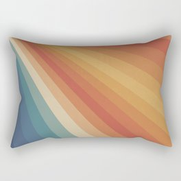 Retro 70s Sunrays Rectangular Pillow
