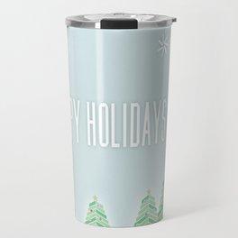 Happy Holiday Trees Travel Mug