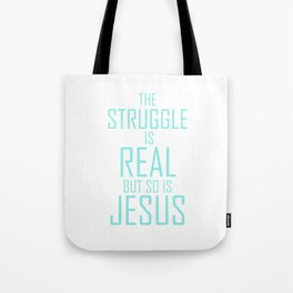 Jesus is Real Christian Tote Bag