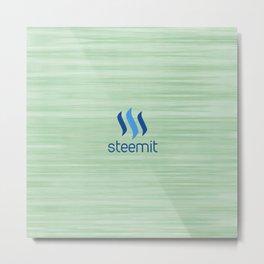 Steemit on Green Metal Print