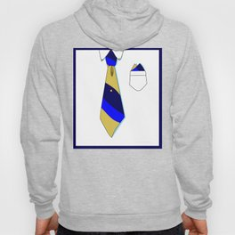 White Collar with Tie in Blues, Series Formal but Not Formal Hoody