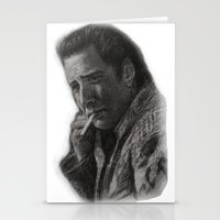 nicolas cage Stationery Cards featuring WILD AT HEART - NICOLAS CAGE by William Wong