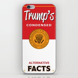 Trump's Alternative Facts Soup iPhone Skin