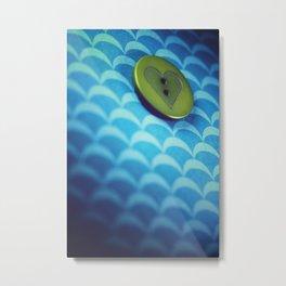 button Metal Print
