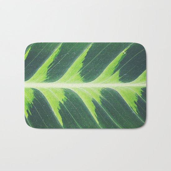 Leaf green Bath Mat