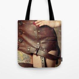 Leather Garterbelt Tote Bag
