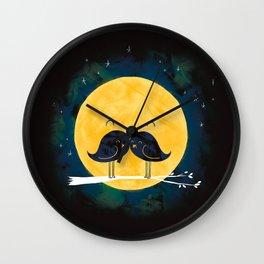 Moonstache Wall Clock