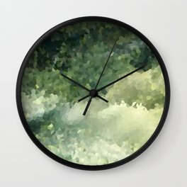The green background .Storm . Wall Clock