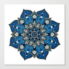 Mandala Blue Stars By Sonia H. Canvas Print