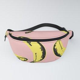 Funky Banana Fruits Pattern Pink Pop Art Fanny Pack