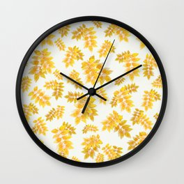 Leaves 2 Wall Clock