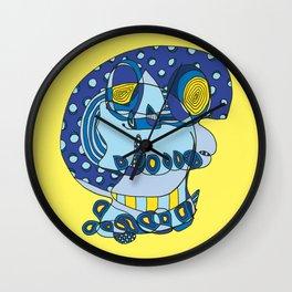 Moonlit Skull Wall Clock