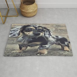 Long Haired Dachshund Rug