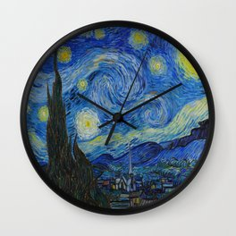 The Starry Night Vincent van Gogh 1889 Oil on canvas Wall Clock
