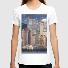 new york skyline manhattan hudson T-shirt