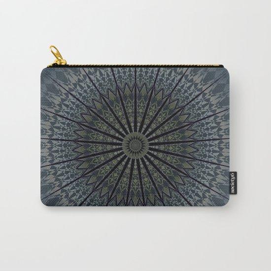 Dark Blue Mandala Carry-All Pouch