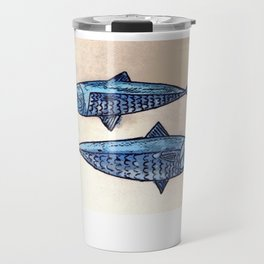 Blue fishes- Poissons bleus Travel Mug