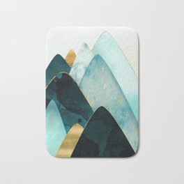 Gold and Blue Hills Bath Mat