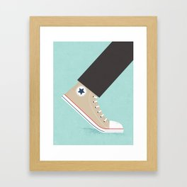 Awful Lot of Running – Natural  Framed Art Print