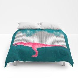 DinoRose - pinky tyrex Comforters