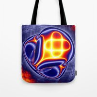 ufo Tote Bags featuring ufo by donphil