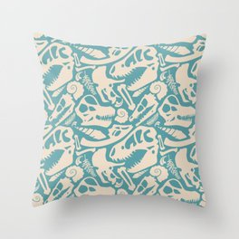 Fossil Pattern Throw Pillow
