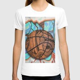 Basketball Graffiti Team Sports Design T-shirt