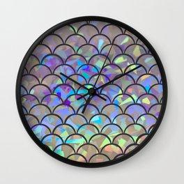 Luminous Mermaid Scales Wall Clock